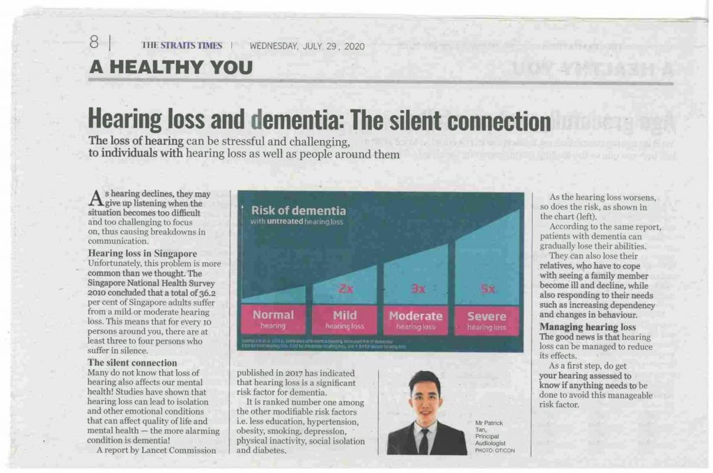 the straits times hearing loss and dementia amazing hearing
