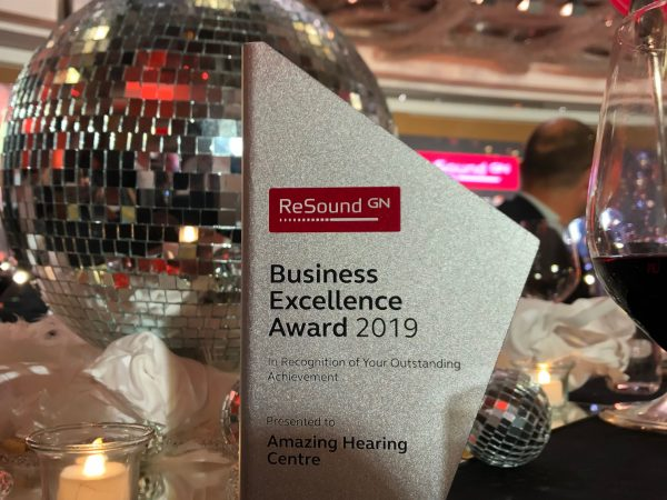 amazing hearing 2019 business excellence award ReSound